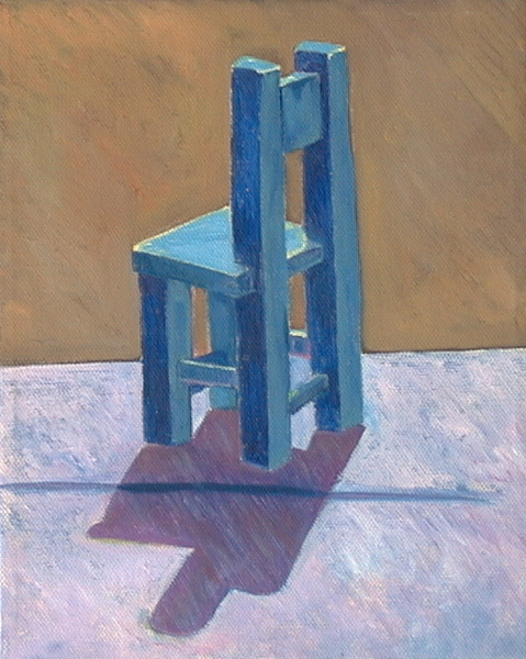 Small Solo Blue Chair